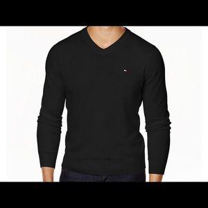 Tommy Hilfiger Men's V-Neck Black Sweater